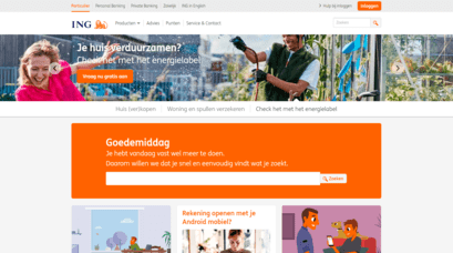 ING Home page