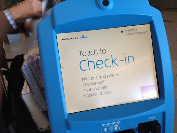 KLM checkin