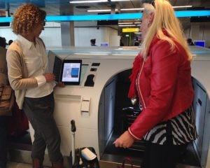 KLM bagage drop-off